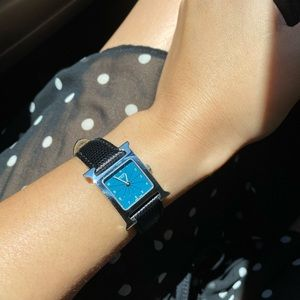 Hermes H Ladies watch color blue